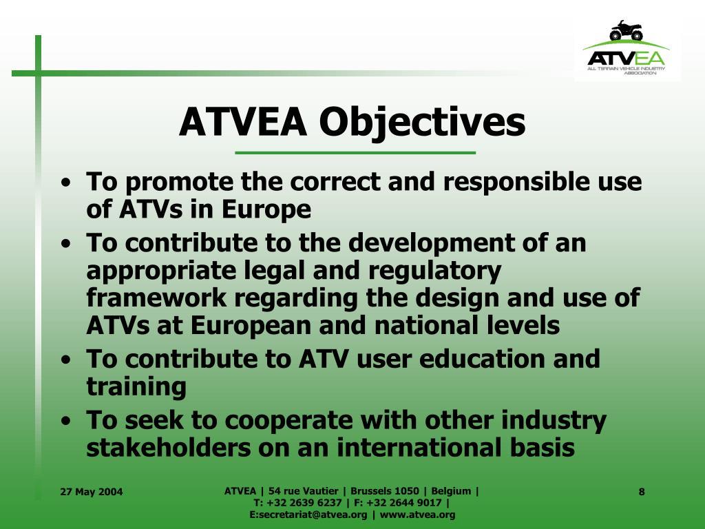 ATVEA Objectives