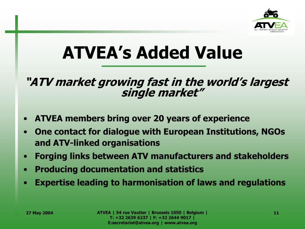 ATVEA's Added Value