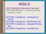 week iii