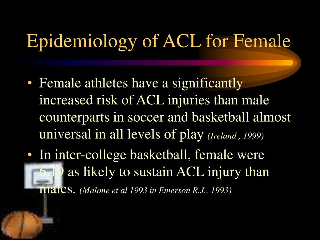 Epidemiology of ACL for Female