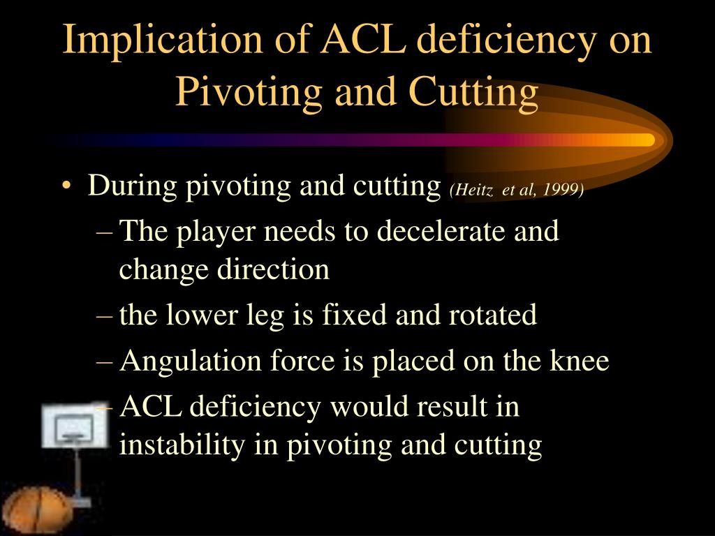 Implication of ACL deficiency on Pivoting and Cutting