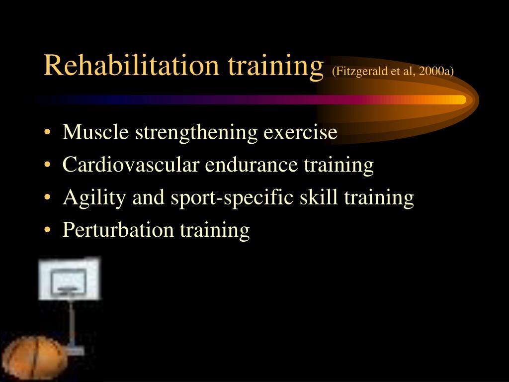 Rehabilitation training