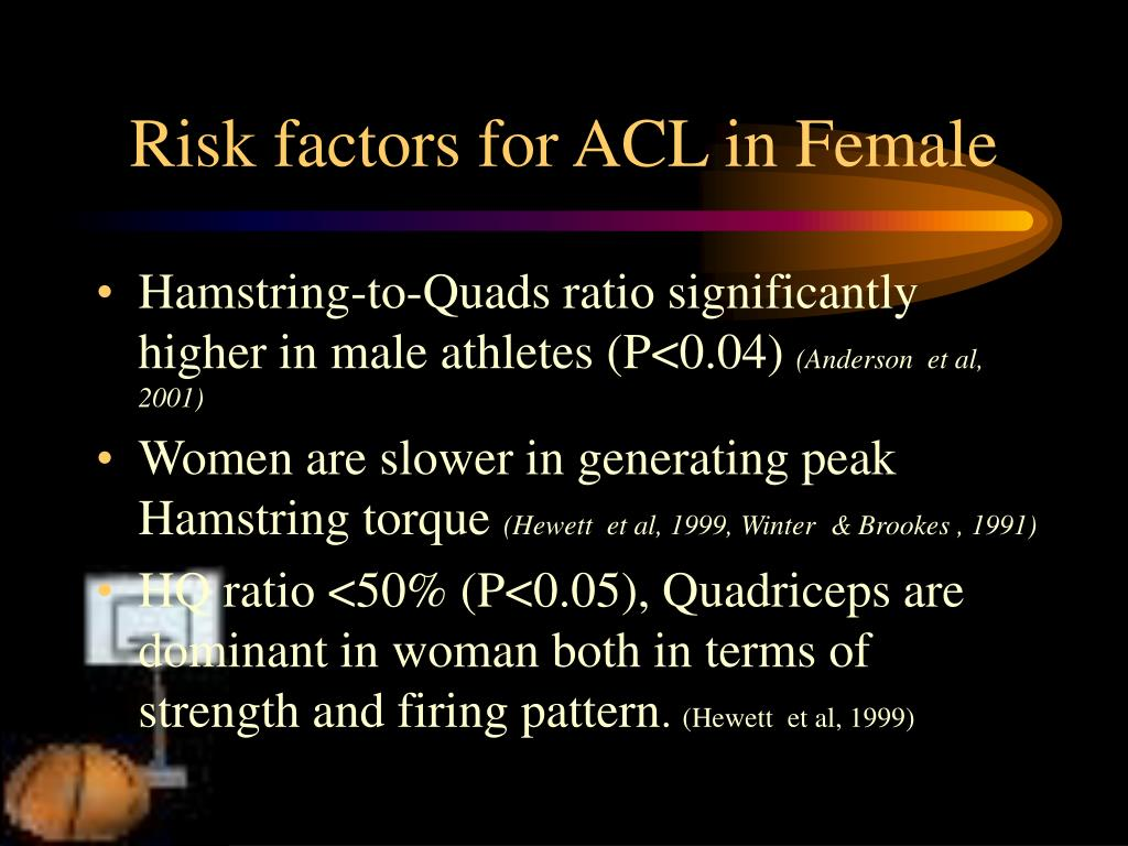Risk factors for ACL in Female