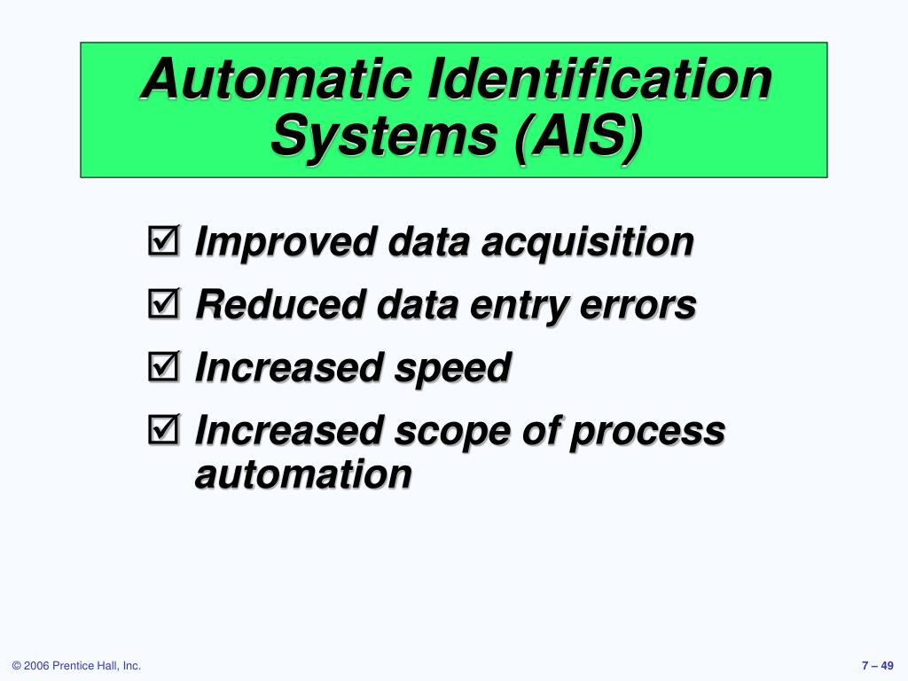 Automatic Identification Systems (AIS)