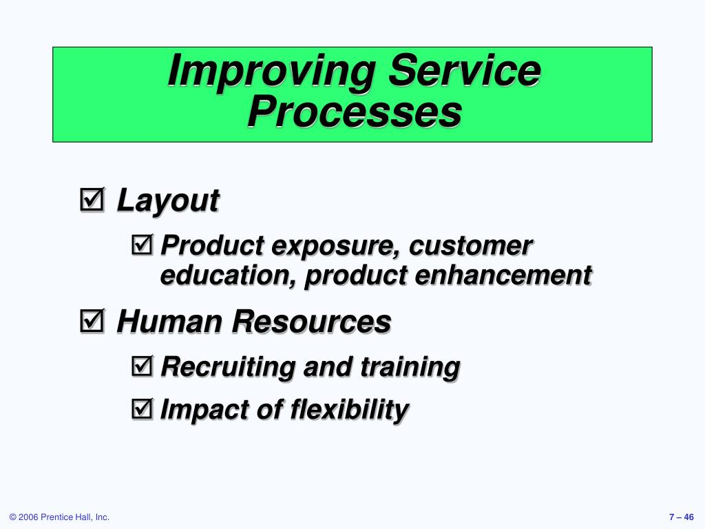 Improving Service Processes