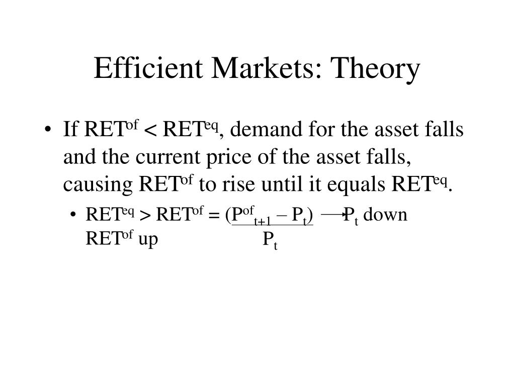 efficient market theories