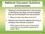 additional discussion questions and exercises