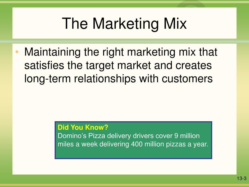 dominos marketing mix essay