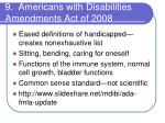 9 americans with disabilities amendments act of 2008