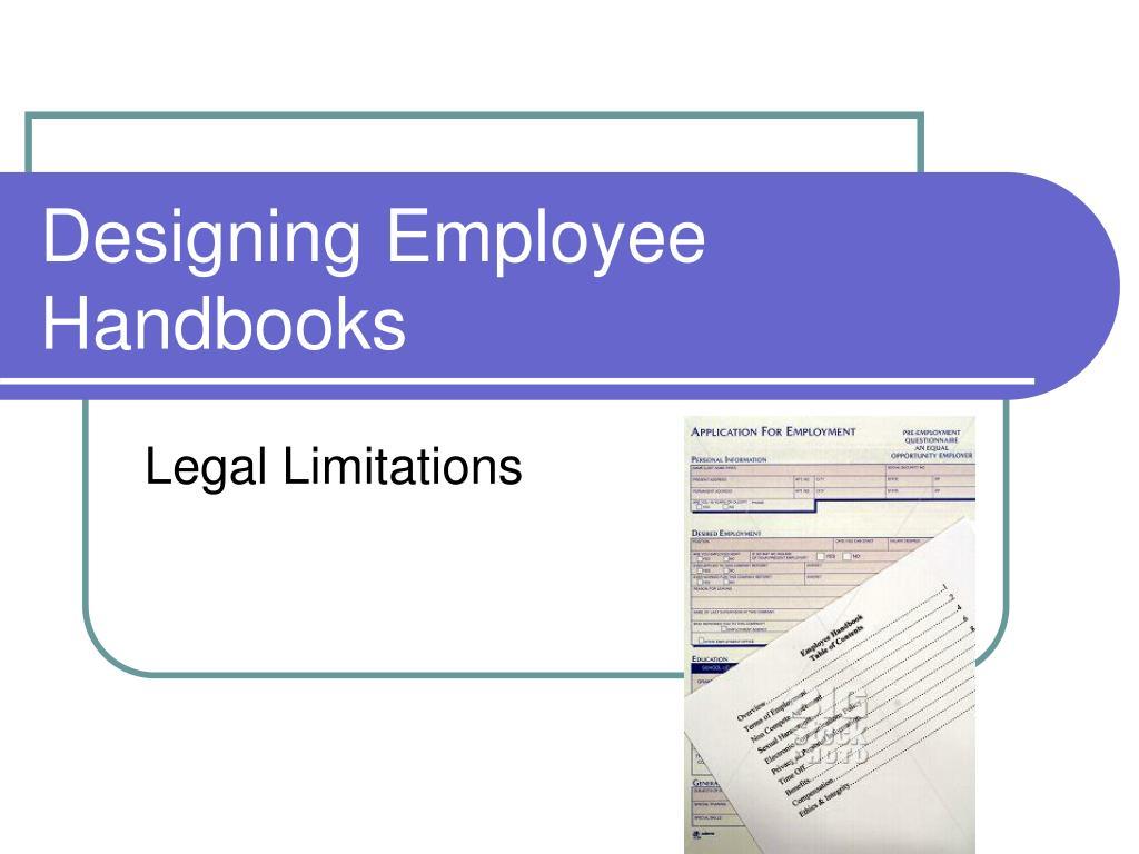 designing employee handbooks