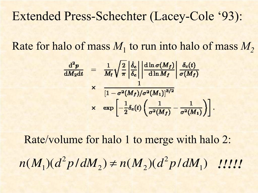 Extended Press-Schechter (Lacey-Cole '93):