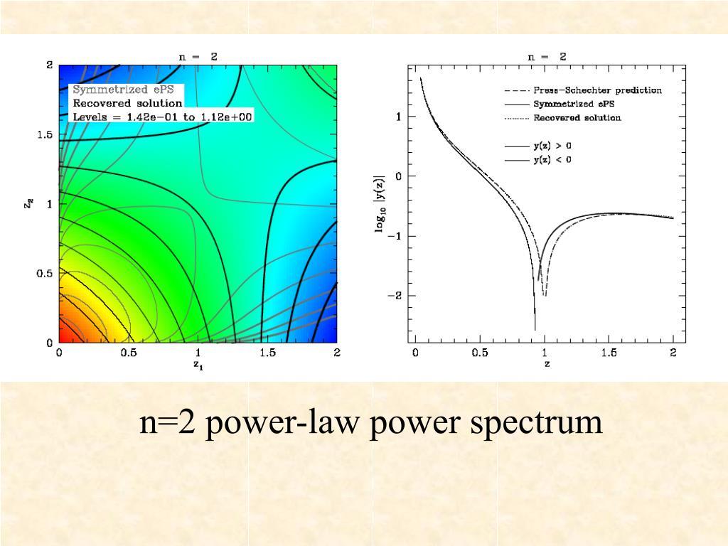 n=2 power-law power spectrum