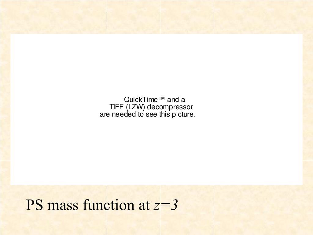 PS mass function at