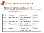 events and event handlers i