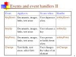 events and event handlers ii