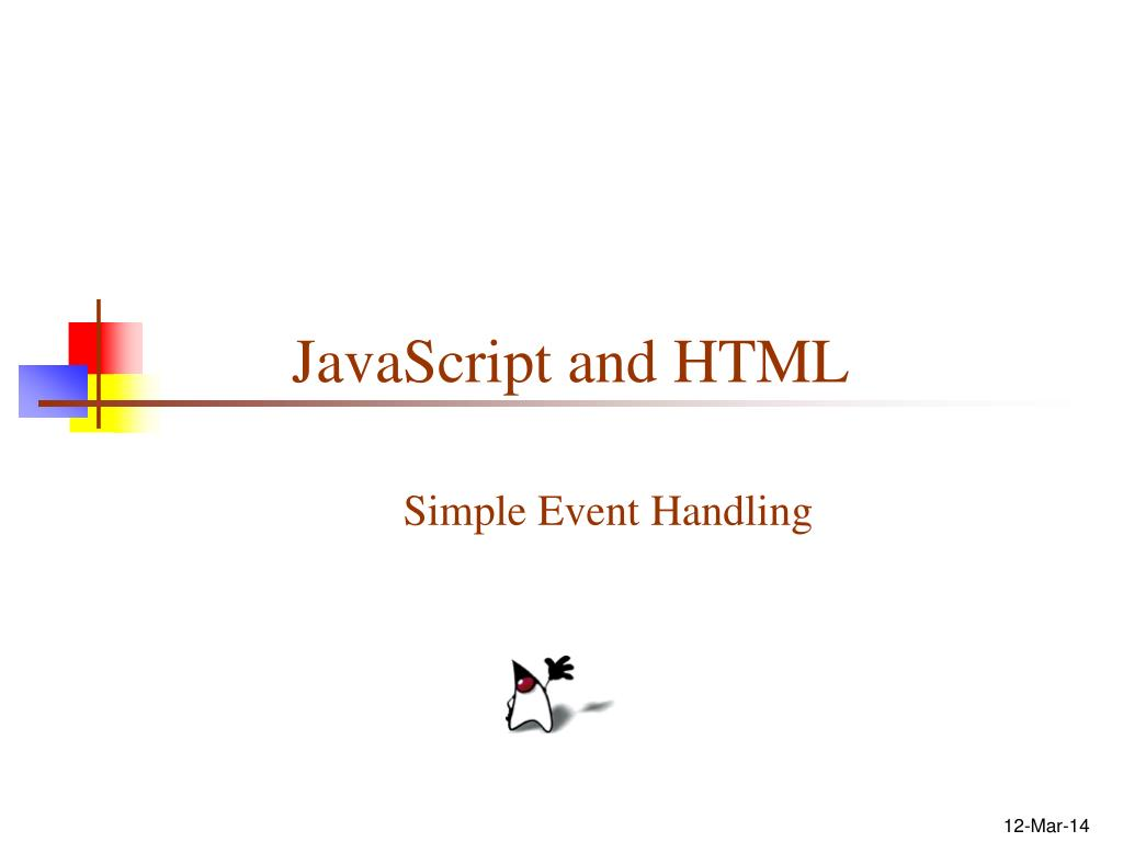 javascript and html l.