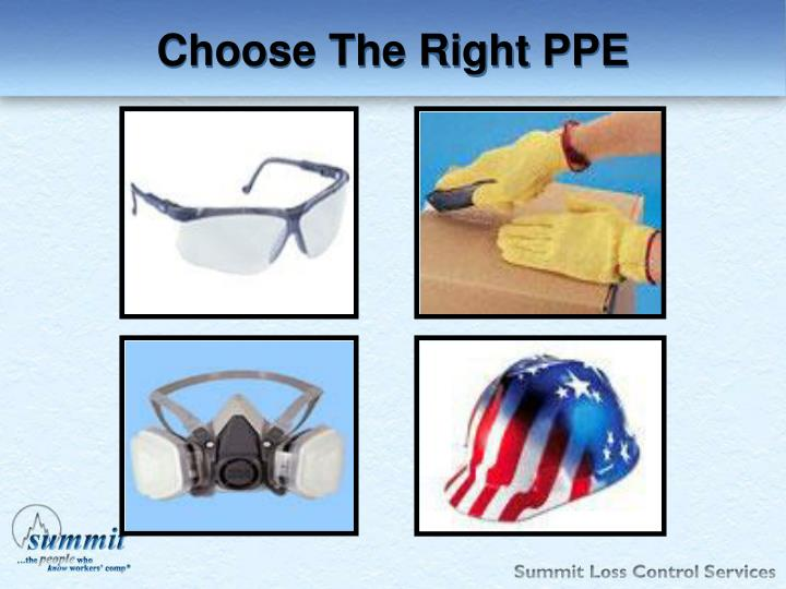 Choose The Right PPE