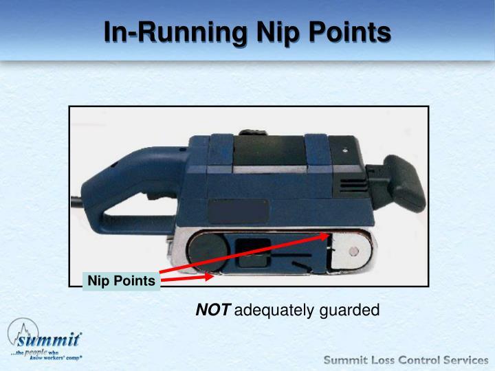 In-Running Nip Points