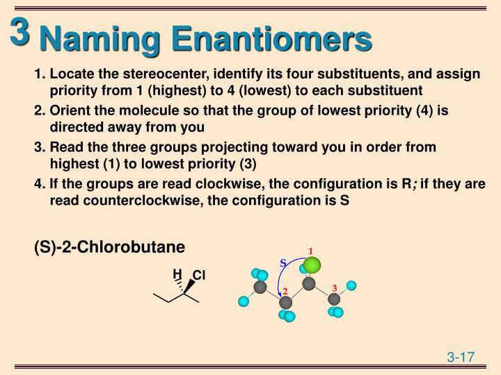 Naming Enantiomers