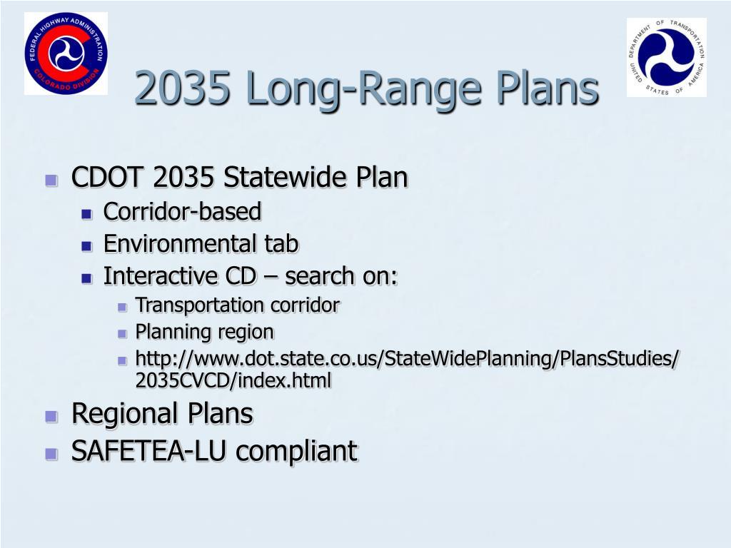 2035 Long-Range Plans