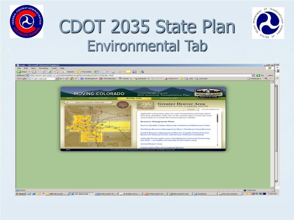 CDOT 2035 State Plan