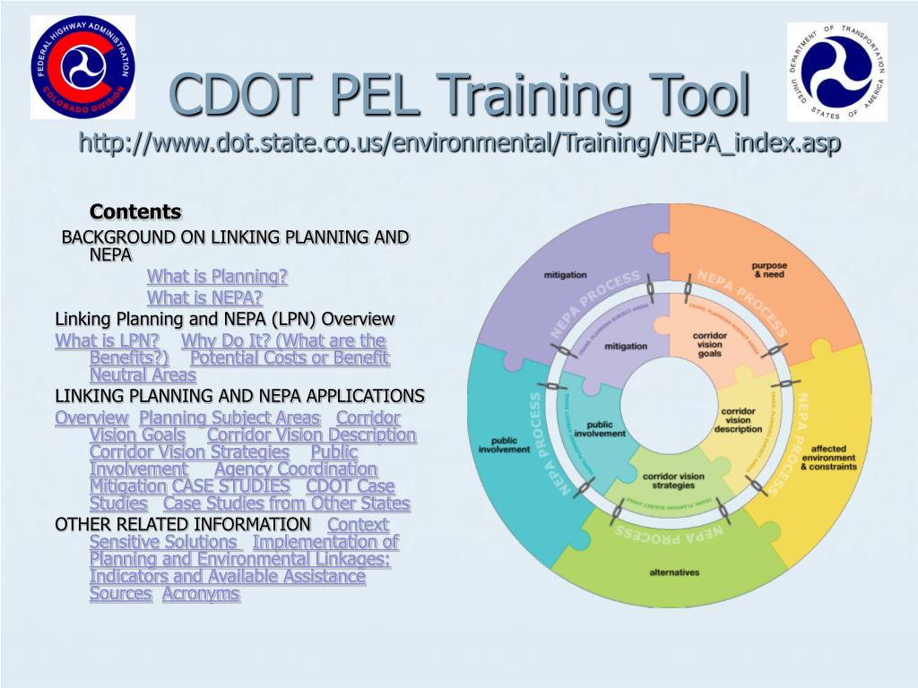 CDOT PEL Training Tool