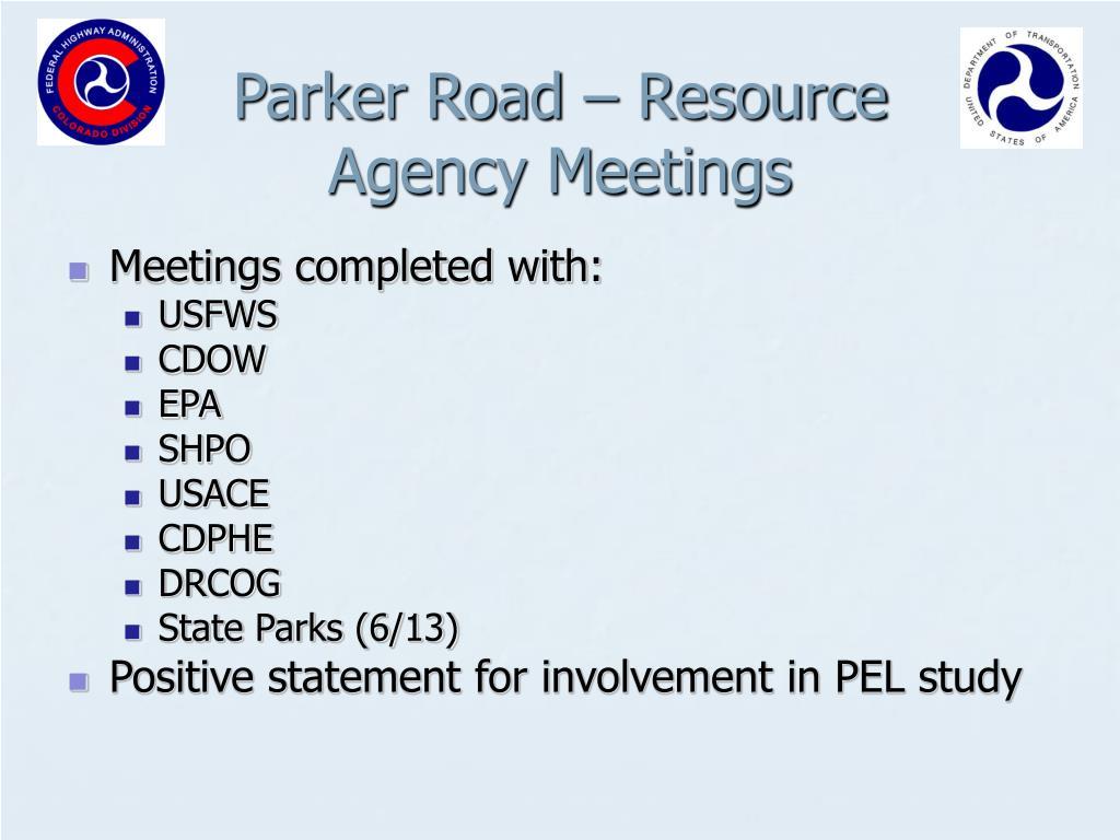 Parker Road – Resource
