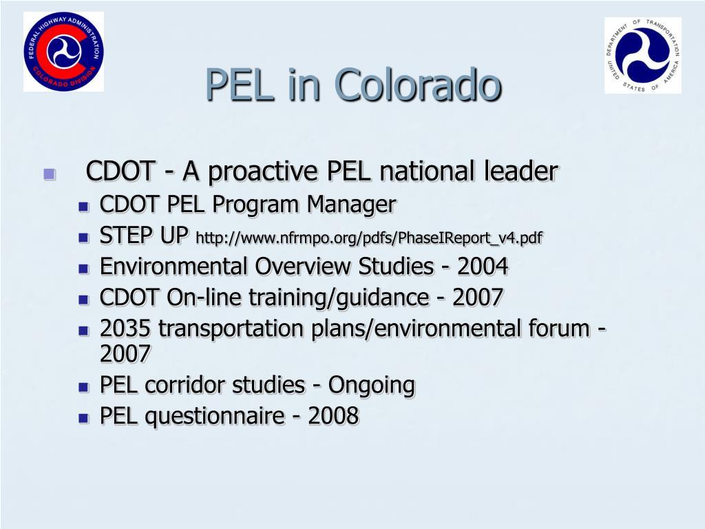 PEL in Colorado