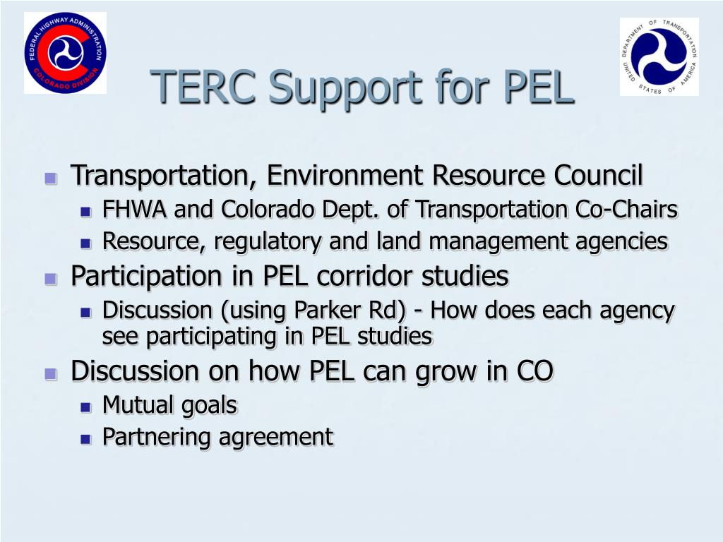 TERC Support for PEL