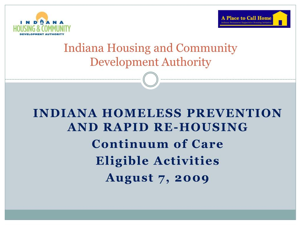 Indiana Housing and Community