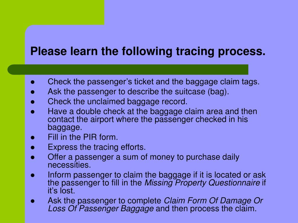 Please learn the following tracing process.