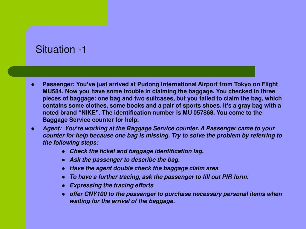 Situation -1