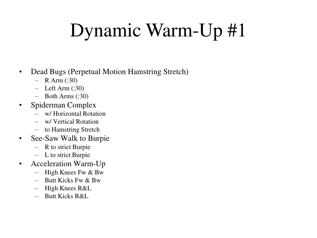 Dynamic Warm-Up #1