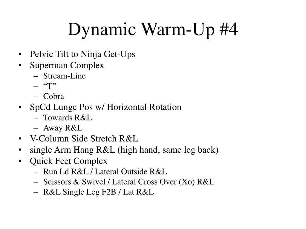 Dynamic Warm-Up #4
