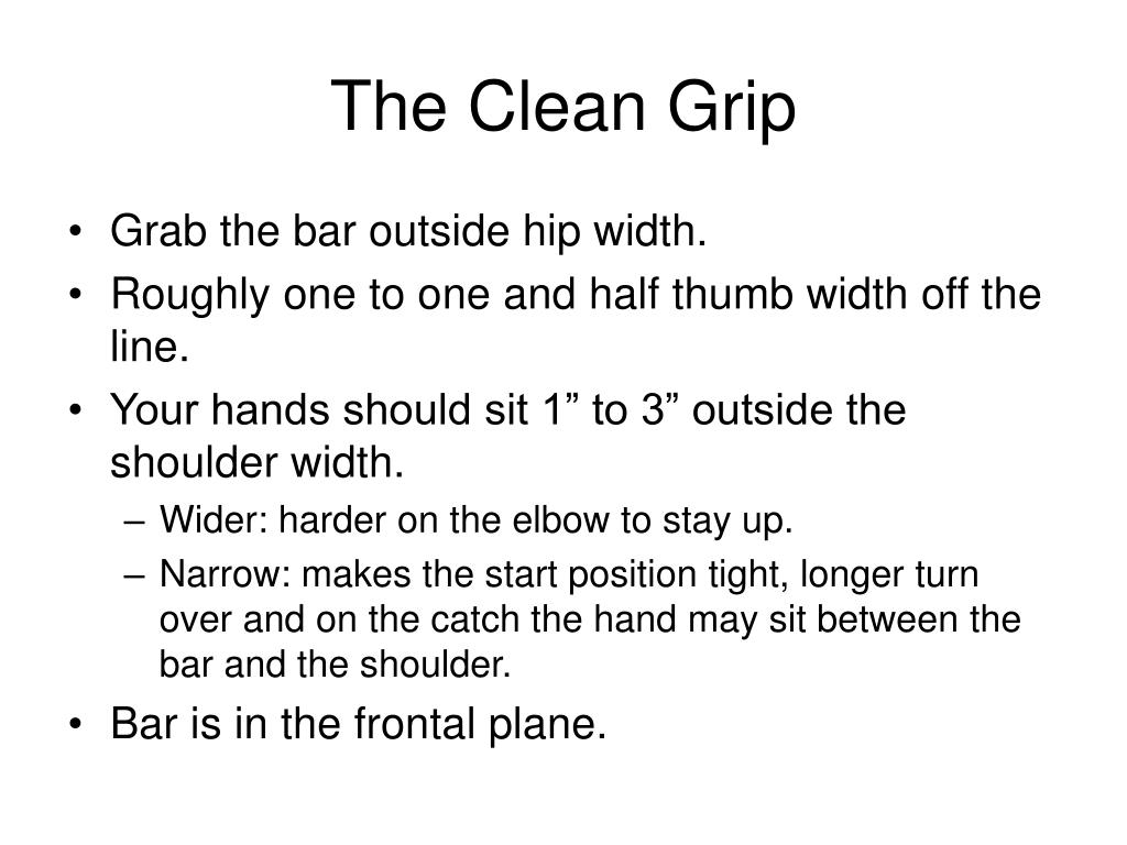 The Clean Grip
