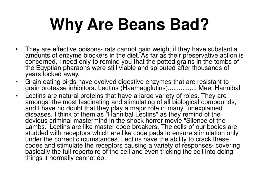 Why Are Beans Bad?