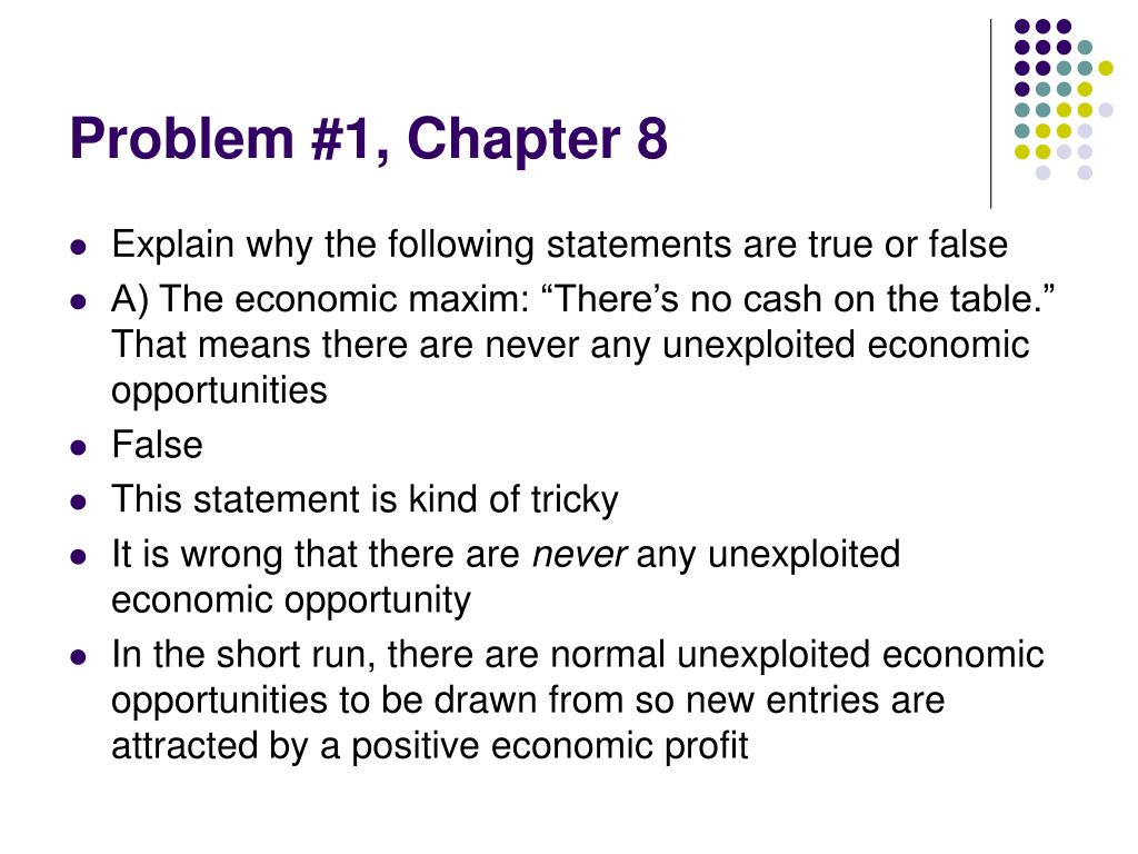Problem #1, Chapter 8