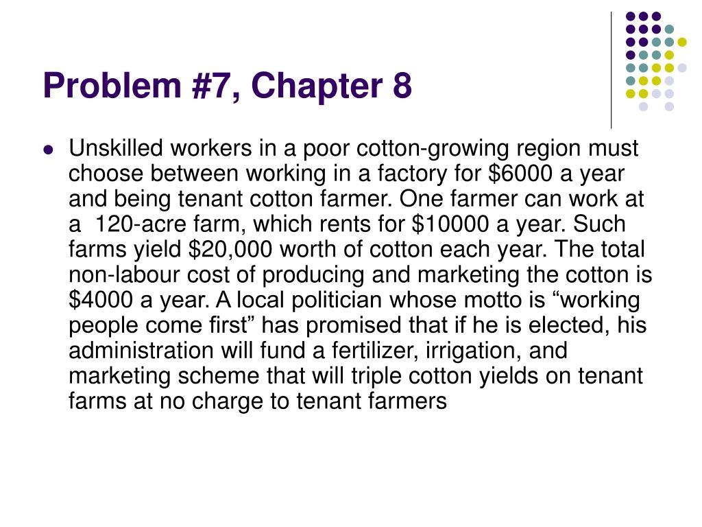 Problem #7, Chapter 8