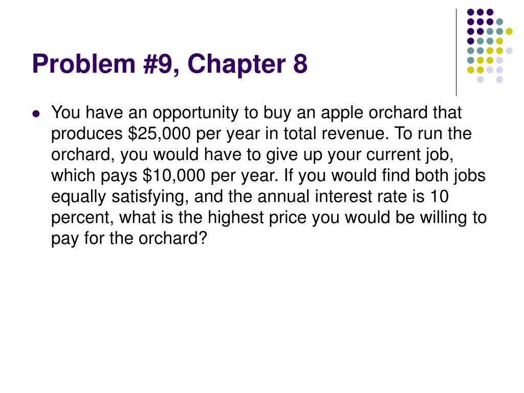 Problem #9, Chapter 8