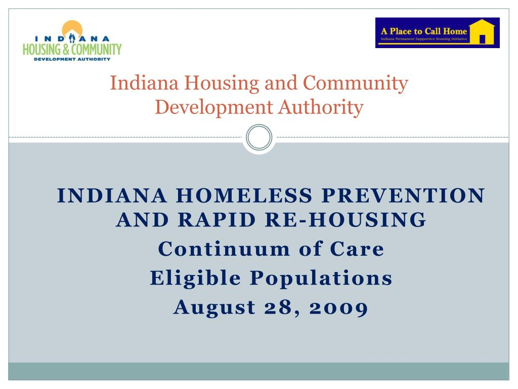 indiana housing and community development authority l.