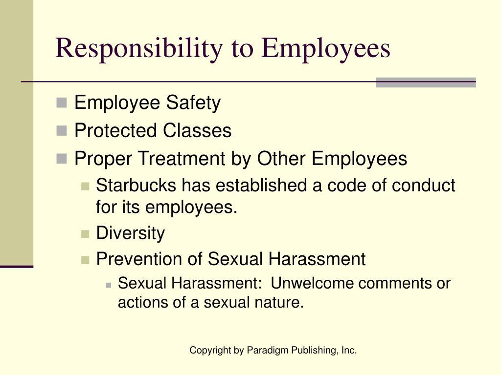 Responsibility to Employees