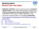 housing topics kitchen non core topic