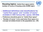 housing topics useful floor space and or number of rooms of housing units core topic31