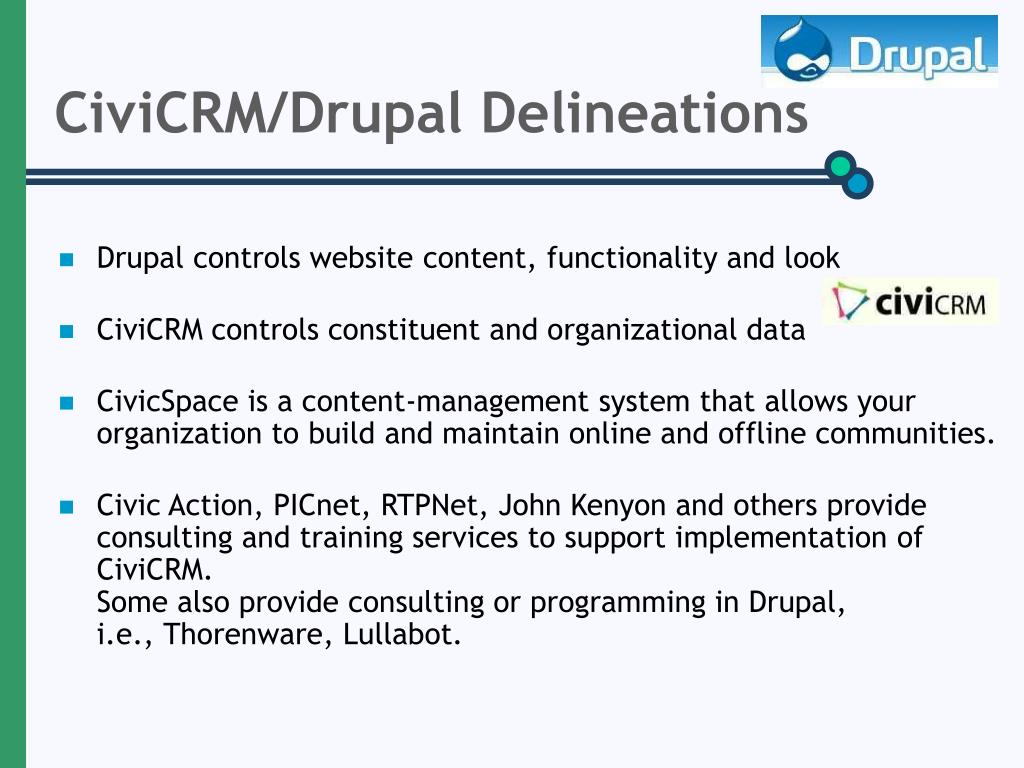 CiviCRM/Drupal Delineations