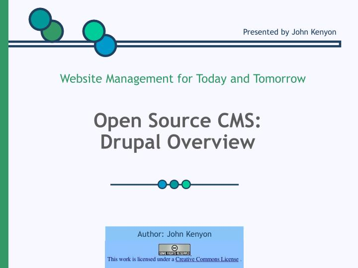 Open source cms drupal overview