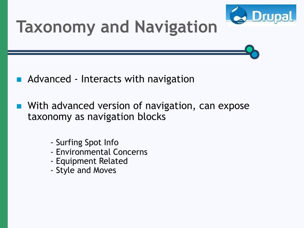Taxonomy and Navigation