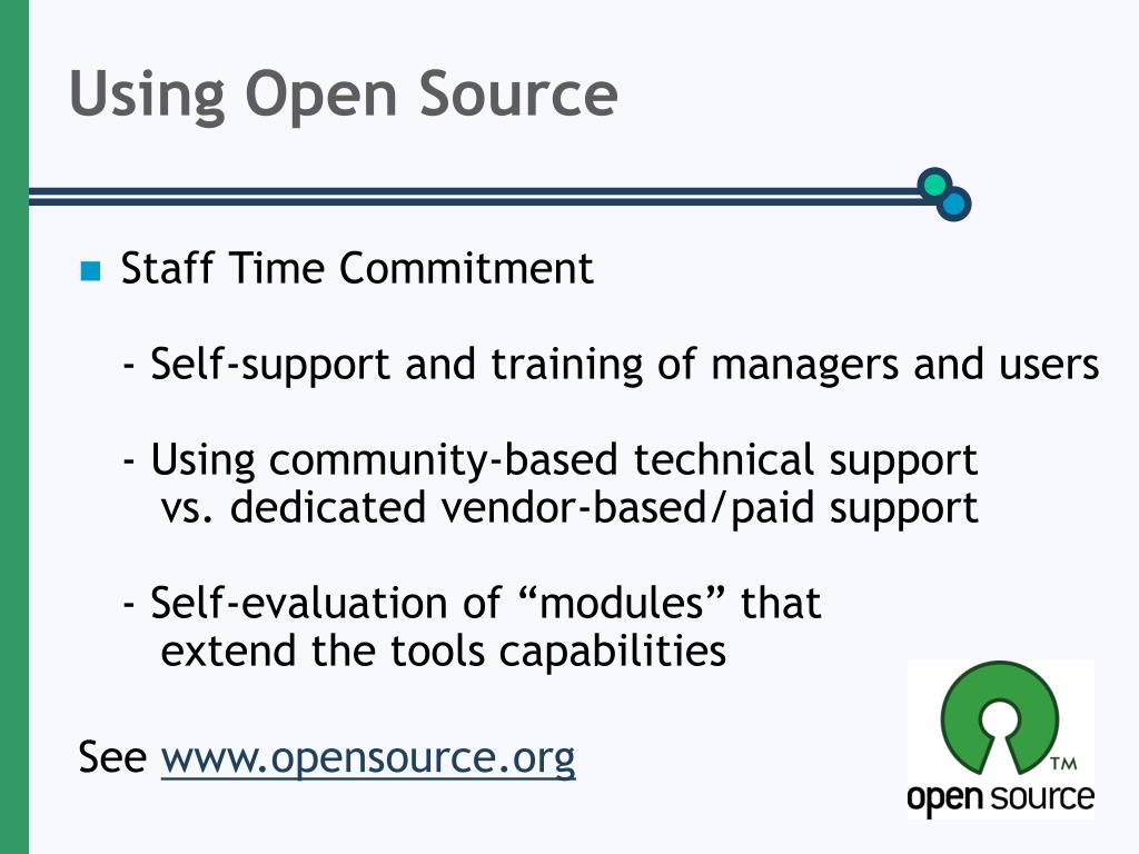 Using Open Source