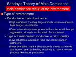 sanday s theory of male dominance