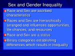 sex and gender inequality