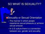 so what is sexuality